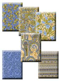 Age of Elegance - Blue Colorway Half Yard Collection