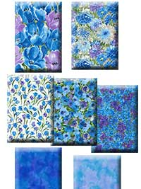 Hanover Square - Blue Half Yard Collection