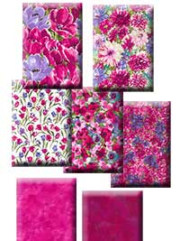Hanover Square - Pink/Fuschia Colorway Fat Quarter Collection