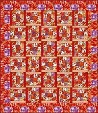 Hanover Square Red Quilt Kit