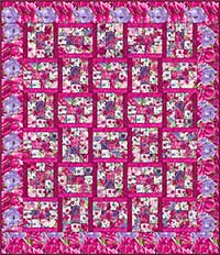 Hanover Square Fuschia Quilt Kit