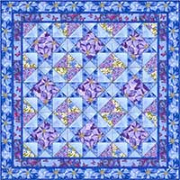 Summer's Day Twin Quilt Kit - Blue