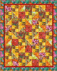 Sunburst in Red Quilt Kit